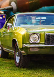 grönt retro för bil Royaltyfri Bild