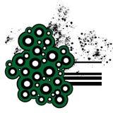 grönt retro för cirklar Royaltyfri Fotografi