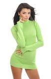 grönt sexigt tröjaslitage för flicka royaltyfria foton