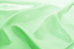 Grönt silke Fotografering för Bildbyråer