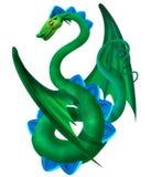 grönt slingra för drake Royaltyfria Foton
