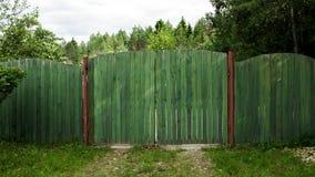 Grönt staket royaltyfri foto