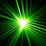 Grönt stjärnaljus Arkivbilder