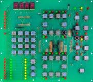 Grönt strömkretsbräde av datoren Arkivbilder
