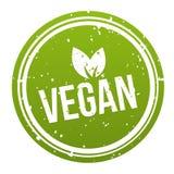 Grönt strikt vegetarianemblem - strikt vegetarianknapp royaltyfri illustrationer