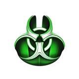 grönt symbol för biohazard Royaltyfri Bild