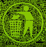 grönt symbolavfall Royaltyfria Foton