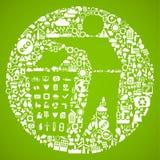 grönt symbolavfall royaltyfri illustrationer