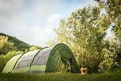 Grönt tält Royaltyfria Bilder