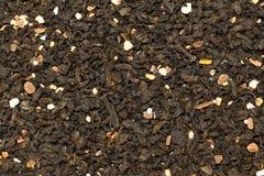 Grönt te för organisk orange sinensis för blomning citrus Textur för makrocloseupbakgrund arkivbild