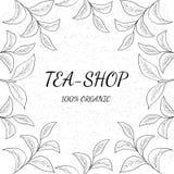 Grönt te, shoppar stock illustrationer