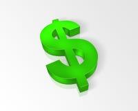 grönt tecken för dollar Arkivfoton