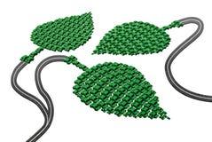 Grönt transportbegrepp Arkivbild