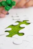 Grönt utrymmebegrepp Arkivfoto