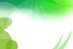 grönt vänstersidahörn för runda former, abstrackbakgrund Royaltyfria Bilder