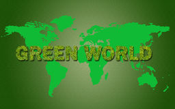 Grönt världsbegrepp Arkivfoto
