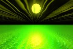 grönt vatten stock illustrationer