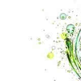Grönt vatten med vit bakgrund Royaltyfria Foton
