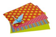 Grúa aislada de Origami Fotografía de archivo libre de regalías