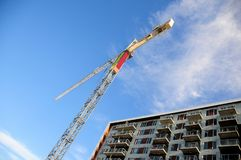 Grúa, construcción de viviendas, Canadá fotografía de archivo