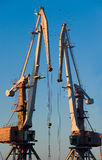 Grúa de construcción. Foto de archivo
