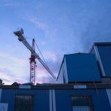 Grúa de construcción Fotos de archivo