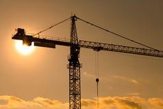 Grúa de construcción Foto de archivo libre de regalías