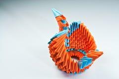 Grúa de Origami fotografía de archivo
