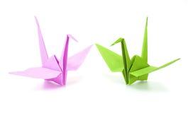 Grúa de Origami Imágenes de archivo libres de regalías