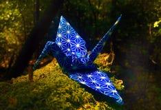 Grúa de Origami Fotografía de archivo libre de regalías