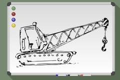 Grúa del edificio del bosquejo del vector ilustración del vector