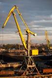 Grúa del puerto Fotos de archivo libres de regalías