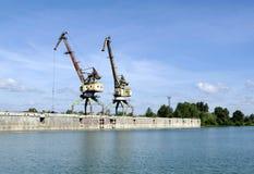 Grúa del puerto Foto de archivo