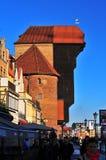 Grúa del siglo XV de Gdansk foto de archivo