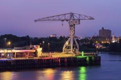 Grúa del titán en Nantes fotos de archivo libres de regalías