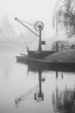 Grúa estrecha del barco Fotografía de archivo