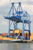 Grúa grande del puerto Foto de archivo libre de regalías