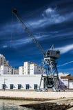 Grúa portuaria Fotos de archivo