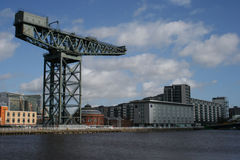 Grúa, río Clyde, Glasgow Fotografía de archivo