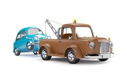 Grúa y coche stock de ilustración