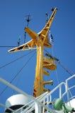 Grúas a bordo de un buque de carga Fotografía de archivo libre de regalías
