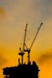 Grúas de construcción Imagen de archivo