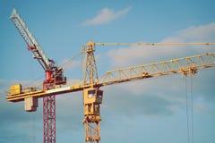 Grúas de construcción Fotografía de archivo