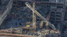 Grúas de construcción en el timelapse del puerto deportivo de Dubai almacen de video