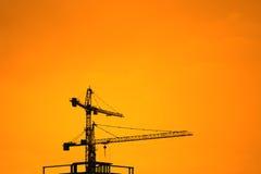Grúas de construcción industriales Imagen de archivo libre de regalías