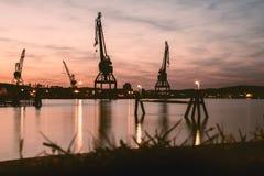 Grúas de Goteburgo Foto de archivo libre de regalías