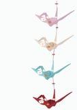 Grúas de Origami Imagenes de archivo