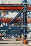Grúas de pórtico del envío del puerto Foto de archivo