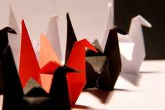 Grúas de papel Foto de archivo