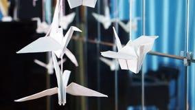 Grúas de papel en una secuencia almacen de video